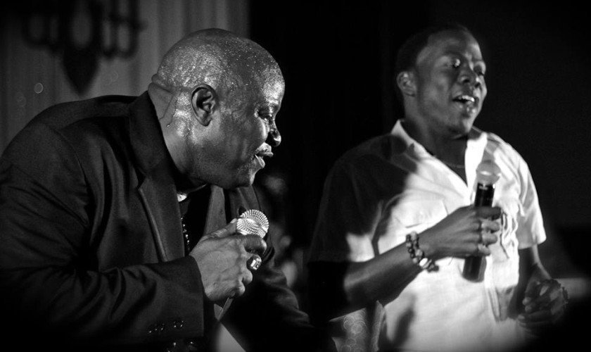 Blaxx performing with Erphaan Alves