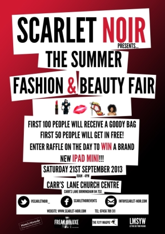 Scarlet Noir Summer Beauty Fair