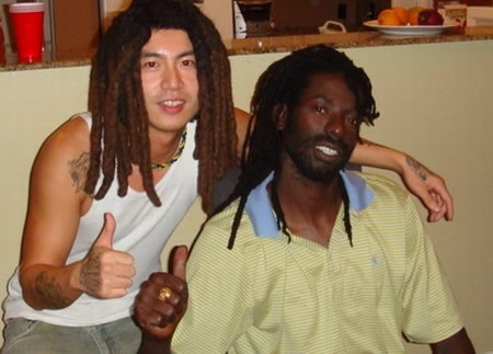 Skull with Buju Banton