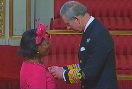Yana Johnson awareded MBE