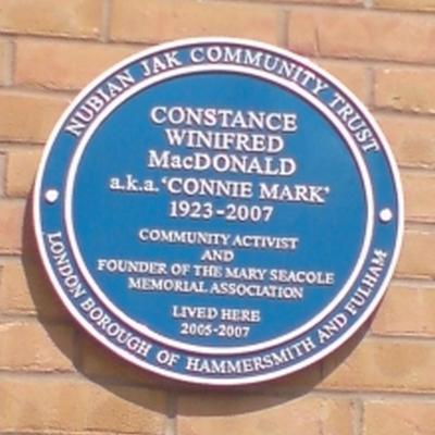 Blue Plaque Connie Mark