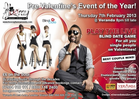 Pre Valentines Blind Date Event