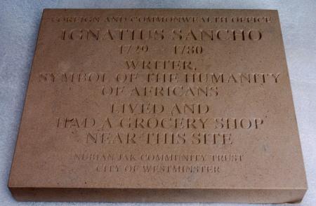 Ignatius Sancho Plaque