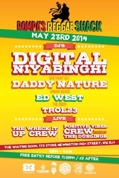 Rompas Reggae Shack 23 may 2014