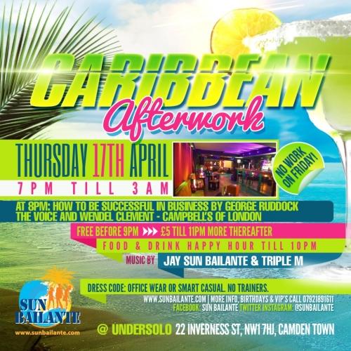 Sun Bailante Caribbean Afterwork April 2014