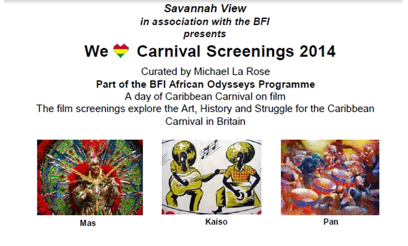 BFI We love carnival screenings 2014