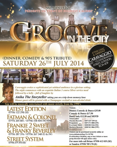 Groove in the City July 2014