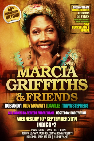Marcia Griffiths Sept 2014