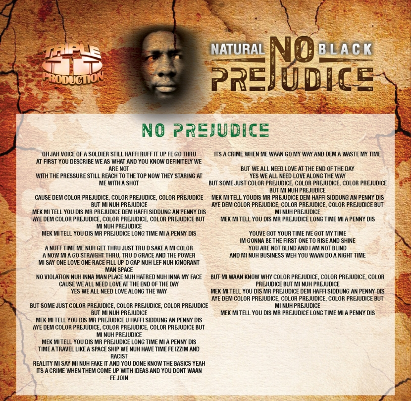 Natural Black No Prejudice Lyrics