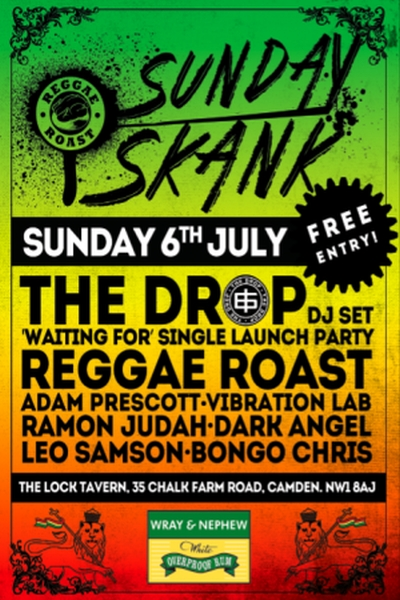 Reggae Roast Sunday Skank July 2014