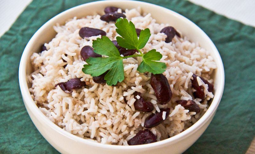 Rice and Peas Caribbean Food