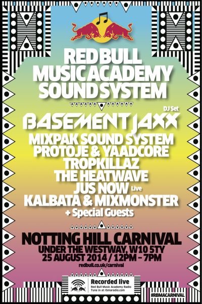 RBMA Sound System Notting Hill Carnival-2014