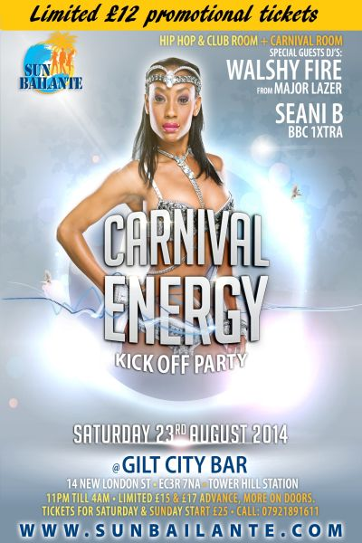Energy Party Notting Hill Carnival 2014