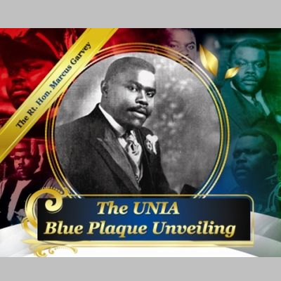 Marcus Garvey UNIA Blue Plaque