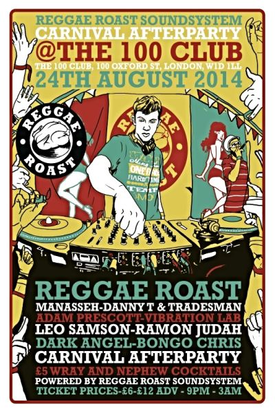 Reggae Roast Carnival Party 2014