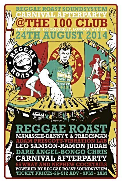 Reggae Roast Carnival Party 2014