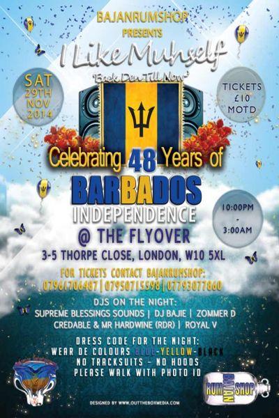 Bajanrumshop Barbados Independence Dance at the Flyover