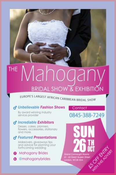 Mahogany Bridal Show and exhibition 2014