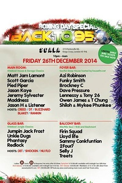 Back to 95 Boxing Day Party