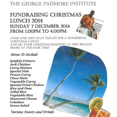 George Padmore Institute Christmas Fundraiser