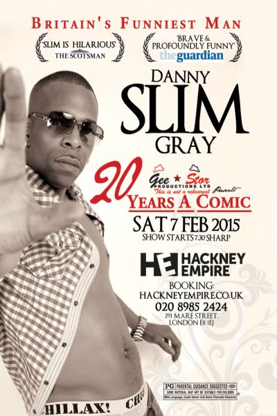 Danny Slim Gray 20 yrs a comic