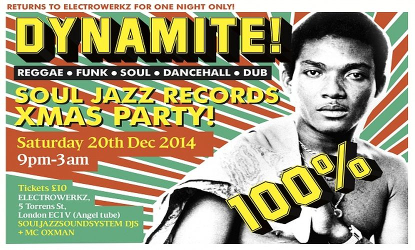 Flyer Souljazz Dynamite Xmas Party