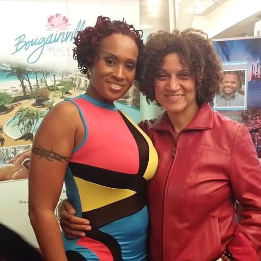 Soca Queen and star of 'Two Smart', Alison Hinds poses with Executive Director Frances-Anne Solomon at the film's screening.jpg