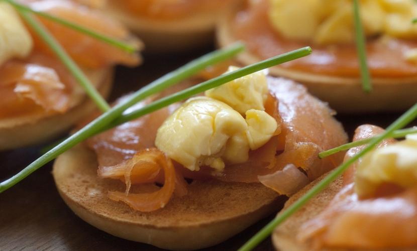 Ackee Smoked Salmon Bagel