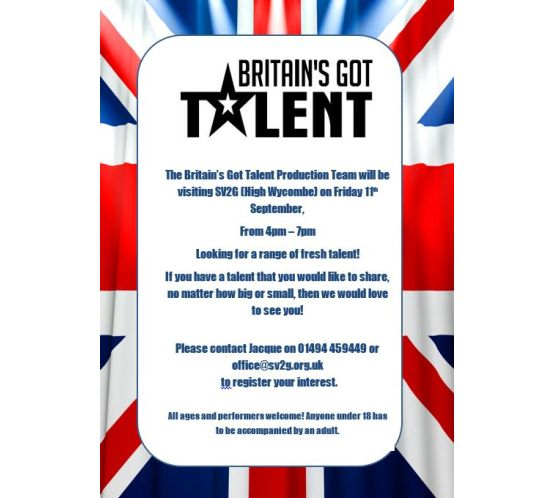 Britain's Got Talent flyer