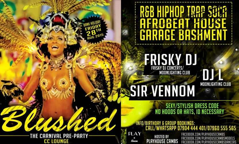 Blushed 2015 Carnival flyer