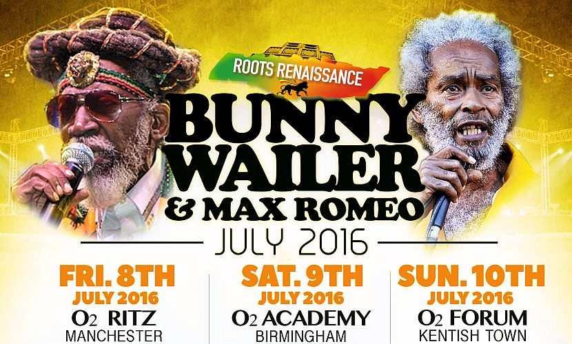 Bunny Wailer + Max Romeo