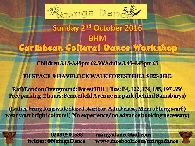 Caribbean Dance Leaflet