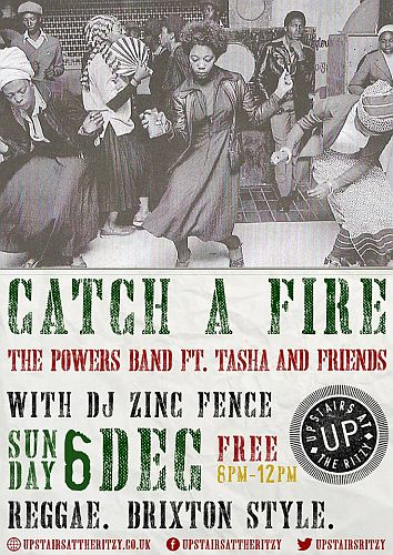 Catch a Fire Reggae night December 2015