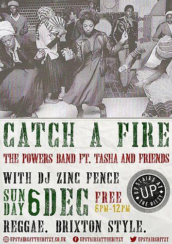 Catch a Fire Reggae night December 2015
