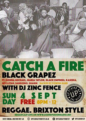 Catch A Fire Reggae Night Sep 2016