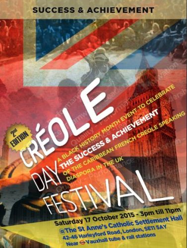 Creole Day 2015 UK flyer