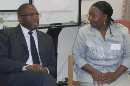 MP David Lammy and Martha Muli