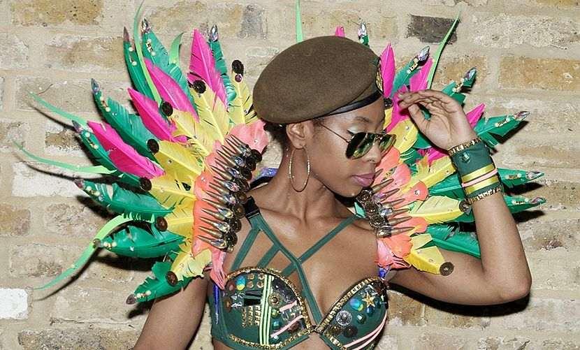 Ebony Mas Band Costume