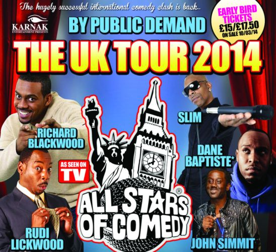 All Stars Comedy Tour UK 2014