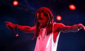 Lil Wayne on stage Haiti Concert 2015