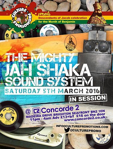 Jah Shaka Brighton March 2016