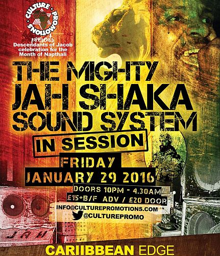 Jah Shaka Sessions Flyer Jan 2016