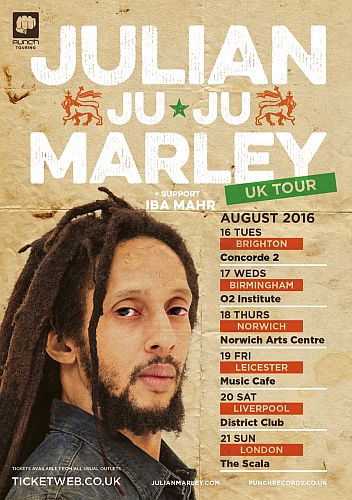 Julian Marley UK Tour 2016