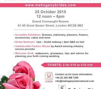 Mahogany Bridal Exhibition 2015