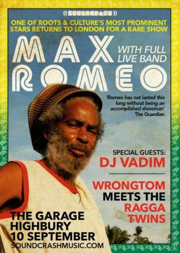 Max Romeo Sept 2015