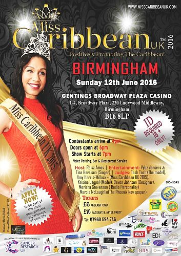 Miss Caribbean UK 2016