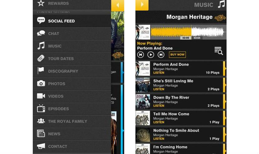 Morgan Heritage App