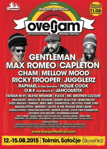 Overjam Festival Flyer 2015