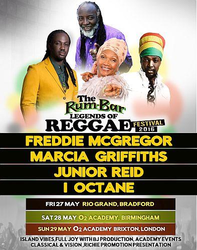 Rum Bar legends of Reggae Festival