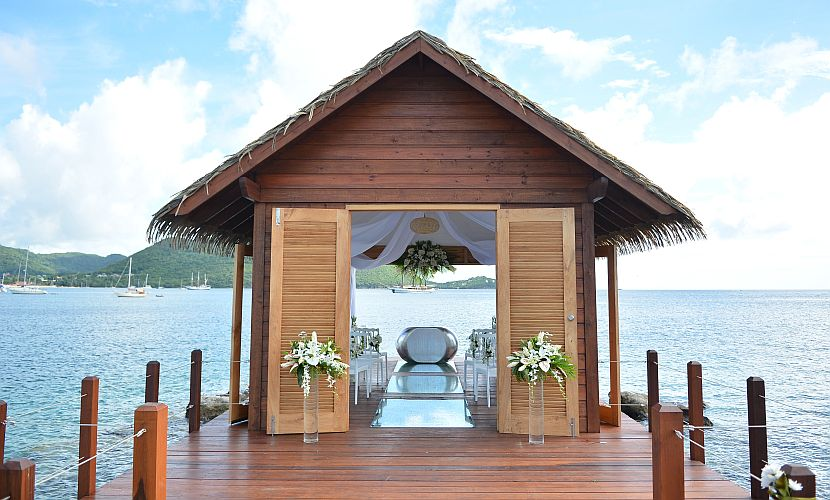 Overwater Wedding Chapel Sandals